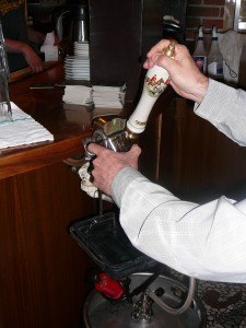 A beer engine, which help establish cask ale