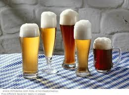 full beer glasses