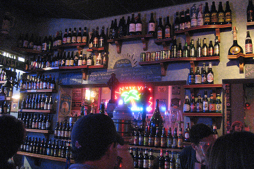 The Wall 'O Beer at the amazing Sunset Tap and Grill in Boston