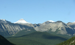 Banded Peak Mountain in Southern Alberta